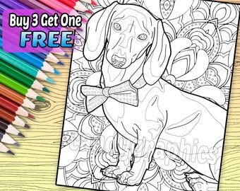 Boxer Adult Coloring Book Page Printable Instant Download