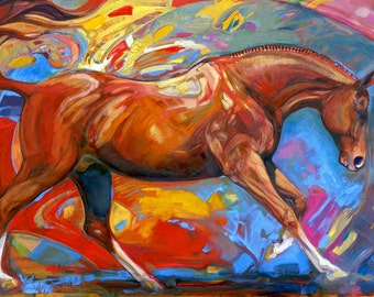 EQUINE FINE ART Alchemy Horse Painting Giclee print on canvas by Joanna Zeller Quentin