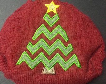 Christmas MamaBear BabyWear One Size Wool Diaper Cover Wrap - Oh Christmas Tree