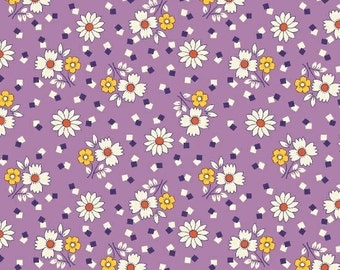 Fabric Marcus Aunt Grace 30s Repro collection Judie Rothermel small flowers on lavender 6258-0335