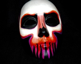 Ghoul Day of the Dead Gentlemans Mask Dia de los Muertos Orange Purple Costume