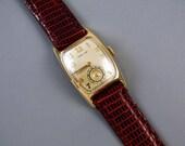 PROFESSIONALLY RESTORED and SERVICED- Vintage Art Deco 14k gold filled Hamilton Boulton B wrist watch 36mm 1950 caliber 753