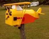 Air plane mailbox-1946 yellow/orange Aeronca Champ mailbox