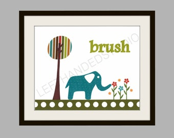 Target Circo Elephant, Art Print, Kids Room Decor, Elephant, Bath Room, 8x10 Art Print, Personalized