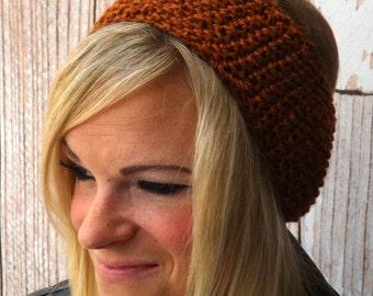 Knit Ear Warmer - Brown Headband - Brown Ear Brassiere - Ear Warmer - Warm Ear Brassiere - Head Wrap - Winter Accessory - Ear Muff