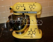 Molecule Graphic for your Kitchen Mixer