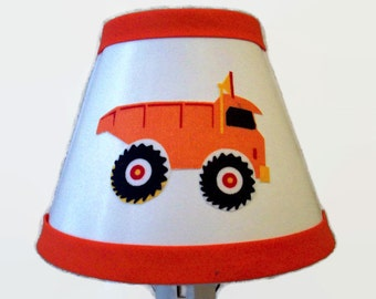 Truck Night Light - Boys Nursery Night Light- Boys Dump Truck Night Light - Truck Nursery Light - Boys Truck Bedroom - Surprise When Lit