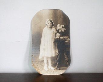 Large Antique First Communion Photograph