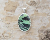 Insect Necklace Pendant Sunset Moth Sterling Silver