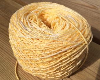 Hand dyed cotton yarn, Vanilla Ice Cream, 12/6, 50 grams skeins