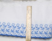 "Eyelet Lace 16 yd 7.5"" Wide EYELET Trim Home Decor Fabric Pillow Edge Turquoise Blue Lot Extra Wide Scalloped Petticoat Sundress Sewing"