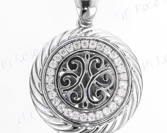 "1 1/16"" Spakling Bali Handcrafted 925 Sterling Silver Pendant"