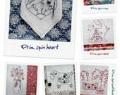 STITCHERY CLUB - July 2016 - six stitchery patterns