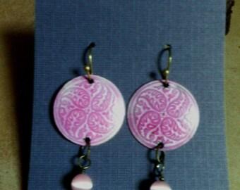 earrings, Pretty in Pink