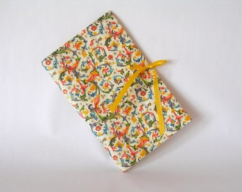 Blank book journal chapbook- Florentine with yellow ribbon tie-(6x9in.)-Ready to ship