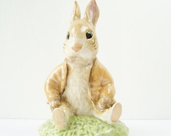 Benjamin Bunny Sat on A Bank  Figurine, Beatrix Potter Collectible, 1983 F. Warne & Co. Beswick England, Nursery Decor, Porcelain Figurine