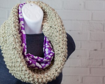 Circle Scarf - Cowl Scarf - Knit Cowl - Infinity Scarf - Ready to Ship