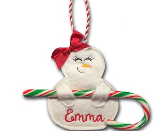 Snowgirl Candy Cane Holders