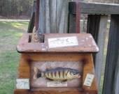 Vintage Fishing Fanatic Coat Rack--Hat Rack--Fishing Rod Holder--Mid Century--Fathers Day Gift--Fishing Kitsch--Man Cave Log Cabin Decor