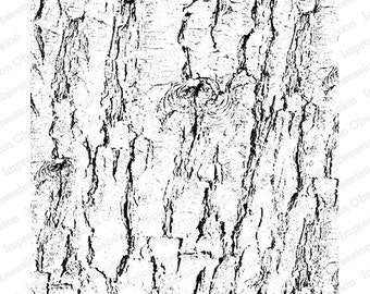 Cover A Card Stamp - Bark - 5.75 x 5.75 inches - Impression Obsession