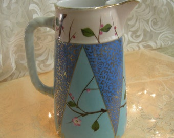 Carlsbad Aesthetic Movement Austrian Porcelain Pitcher