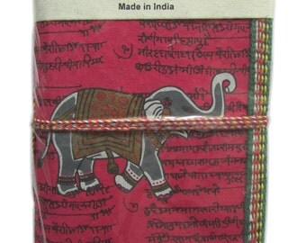 Indian Elephant, Art Journal, Marsala, Handmade Journal, Eco Friendly Journal, Blank Notebook, Wine Pink,Red,Maroon, Recycled Paper,45 Pages