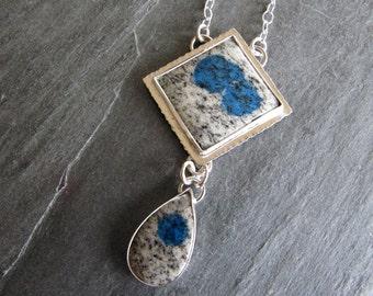 Pendant of K2 Jasper in Sterling silver