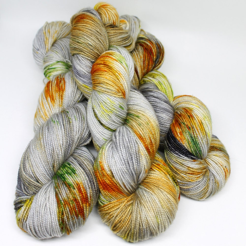 Hand Dyed Yarn : Hand Dyed Sock Yarn SW Sock 80/20 Superwash by SpunRightRound