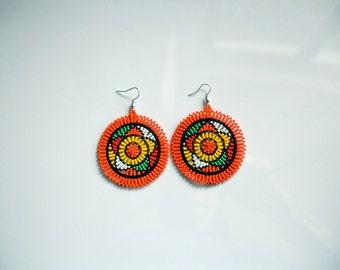 Large circle Zulu earrings