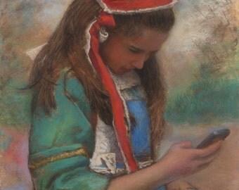 "Original pastel portrait (ref 130910) : ""Smartpaper"""