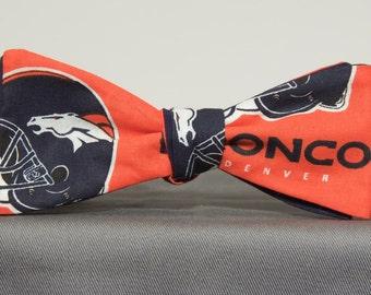 Striking Denver Broncos  Bow tie
