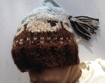 Extra Soft Cashmere Wool and Alpaca Sheep Hat