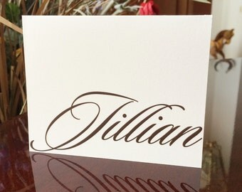 Personalized Letterhead Note Cards Stationery with Name Blank Notes Thank You Cards by Lime Green Rhinestones