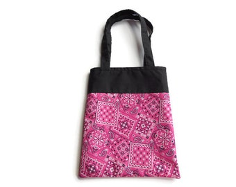 Pink Bandana Gift Bag - Goodie Bag - Mini Tote