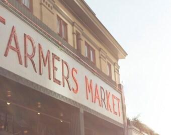 Farmers Market, Pike Place, Seattle - 11x14 Travel Photo Print