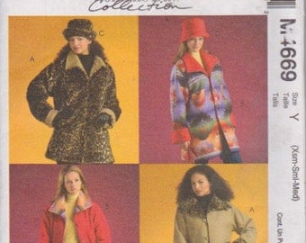 McCall's M4669 Misses'/ Miss Petite Reversible Jackets and Hats Sizes 4-14 UNCUT Pattern