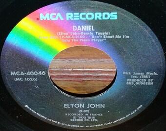 Elton John Daniel & Skyline Pigeon 45 RPM Record