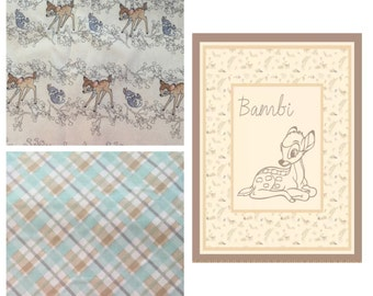 Bambi Boutique Crib Mini Crib Nursery Toddler Neutral Bedding Set