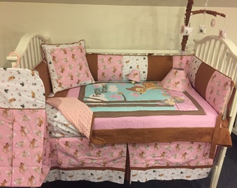 Bambi Boutique Crib/Mini Crib Nursery Toddler Bedding Set