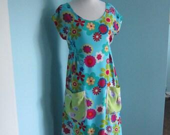 Summer Floral Print Frock Dress