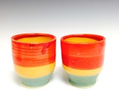 Rasta Tea Cup: Red, Gold, Green