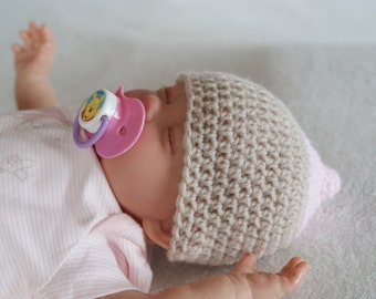 Breast Feeding  Baby Novelty hat,Baby Girl Hat, Prem to 6 Months Sizes, Photo Prop Hat