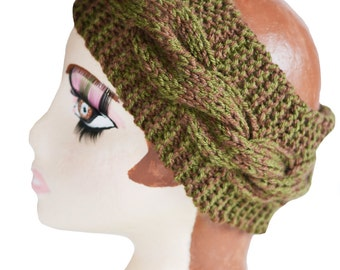 ON SALE Chunky Knit Womens Cable Headband, Wide Headband, Earwarmer