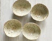 Hand built  small set of 4  Stoneware shallow bowls