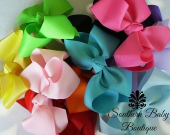 SUMMER SALE---Boutique Baby Toddler Big Girl Hair Bows 4 Inch---You Choose 10----