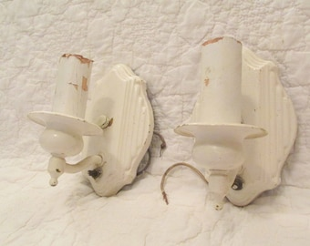 Set of Vintage Sconces Salvage Electrical Great for Restoration SALE