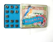 Alphabet Stamps by Melody Ross / Uppercase Set of 26 / Use On Chipboard Leather Soap Wax