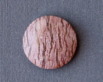 Mystery Jasper Stone Cabochon - Round Reptile Skin Pattern Stone