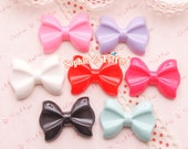 Classic Bow Flatback Resin Cabcohon - 7 pieces | Resin Cabochon Decoden Supplies Jewelry Making Flatback Resin Cabochon