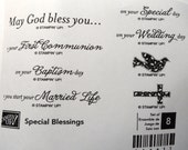 Stampin' Up! Rubber Stamp Special Blessings